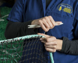 Produzione di reti in fibra sintetica